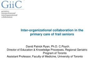 Inter-organizational collaboration in the primary care of frail seniors