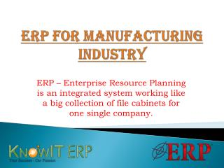 ERP for Manufacturing Industry Solutions