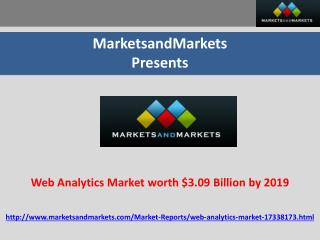 Web Analytics Market worth $3.09 Billion by 2019