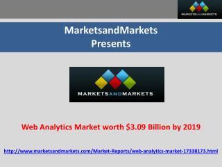 Web Analytics Market worth $3.09 Billion by 2019