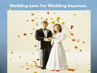 Wedding Loan For Wedding Expenses