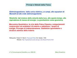 Principi e Metodi della Fisica