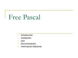 Free Pascal