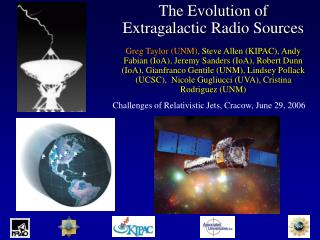 Challenges of Relativistic Jets, Cracow, June 29, 2006