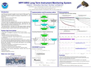 Implementation and Processing outline Processing Framework of VIIRS instrument monitoring System Processing Framework o
