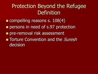 Protection Beyond the Refugee Definition