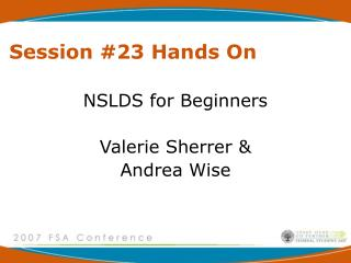 Session #23 Hands On