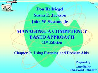 Chapter 9:  Using Planning and Decision Aids