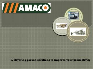 Delivering proven solutions to improve your productivity