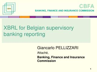 XBRL for Belgian supervisory banking reporting