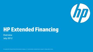 HP Extended Financing