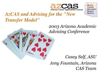 AzCAS and Advising for the