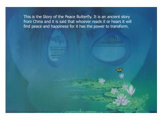 Keep the story of the Peace Butterfly alive . Please take a couple of seconds to forward this email to at least  three