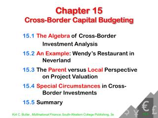Chapter 15 Cross-Border Capital Budgeting