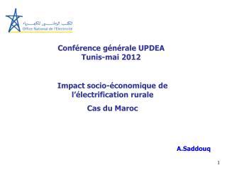 Conférence générale UPDEA Tunis-mai 2012