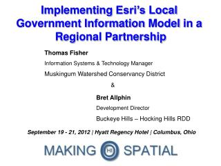 Implementing  Esri's  Local  Government Information  Model  in  a  R egional Partnership