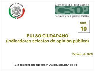PULSO CIUDADANO (indicadores selectos de opinión pública)