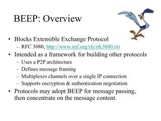 BEEP: Overview