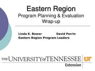 Eastern Region Program Planning & Evaluation Wrap-up
