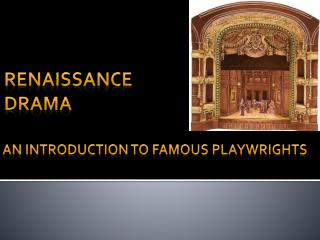 an introduction to Famous Playwrights