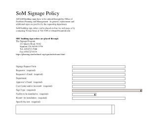 SoM Signage Policy