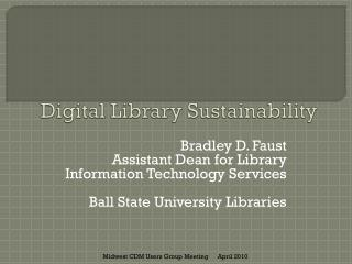 Digital Library Sustainability