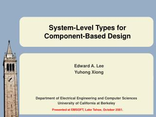 System-Level Types for Component-Based Design