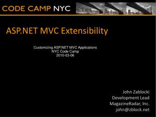 ASP.NET MVC Extensibility