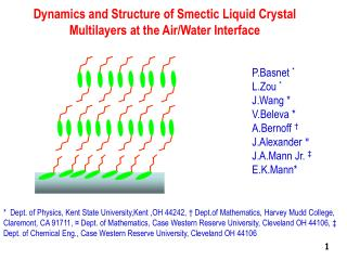 Dynamics and Structure of Smectic Liquid Crystal Multilayers at the Air/Water Interface