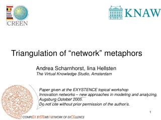 "Triangulation of ""network"" metaphors"