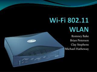 Wi-Fi 802.11 WLAN