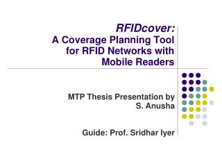 RFIDcover: A Coverage Planning Tool for RFID Networks with Mobile Readers