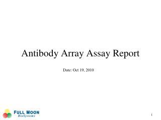 Antibody Array Assay Report
