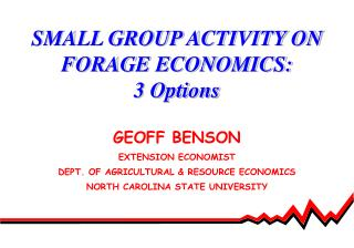 SMALL GROUP ACTIVITY ON FORAGE ECONOMICS: 3 Options