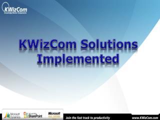 KWizCom Solutions Implemented