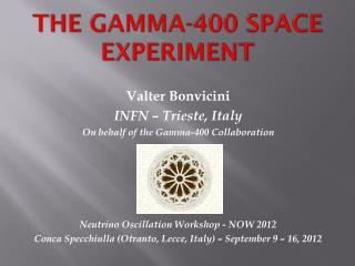The Gamma-400 space experiment