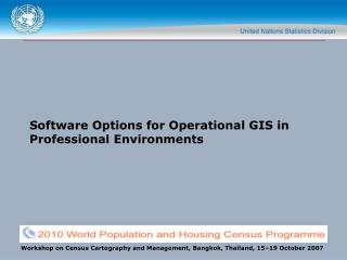 Software Options for Operational GIS in Professional Environments
