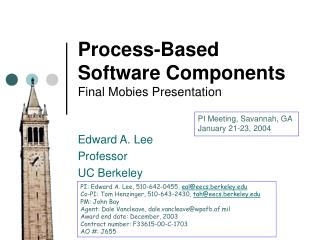Process-Based Software Components Final Mobies Presentation