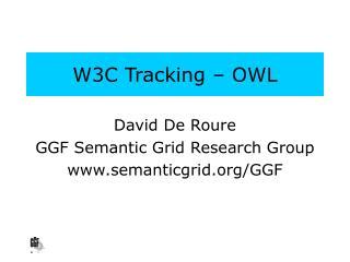 W3C Tracking – OWL