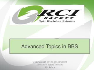 Advanced Topics in BBS
