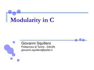 Modularity in C