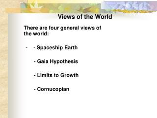 Views of the World