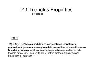 2.1:Triangles Properties