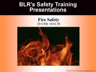 BLR�s Safety Training Presentations