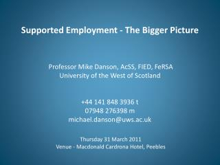 Thursday 31 March 2011 Venue - Macdonald  Cardrona  Hotel, Peebles