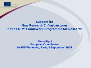 Activities in FP7 for RI