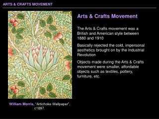 Arts  Crafts Movement