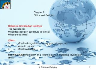 Chapter 2 Ethics and Religion