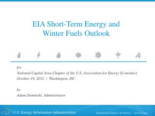 EIA Short-Term Energy and Winter Fuels Outlook