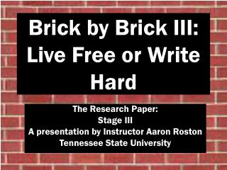 Live help writing a research paper